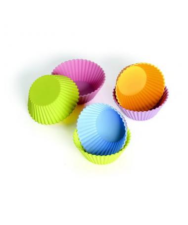 12 silikonowych form do mini muffinek