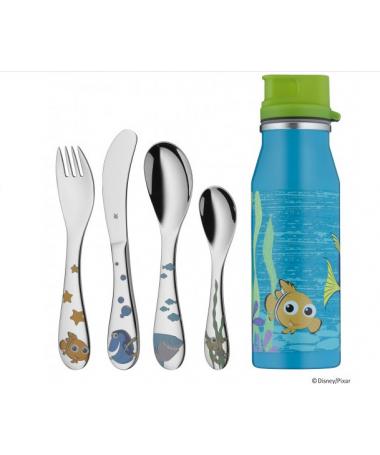 WMF - zestaw 5cz. sztućców dla dzieci z butelką Nemo