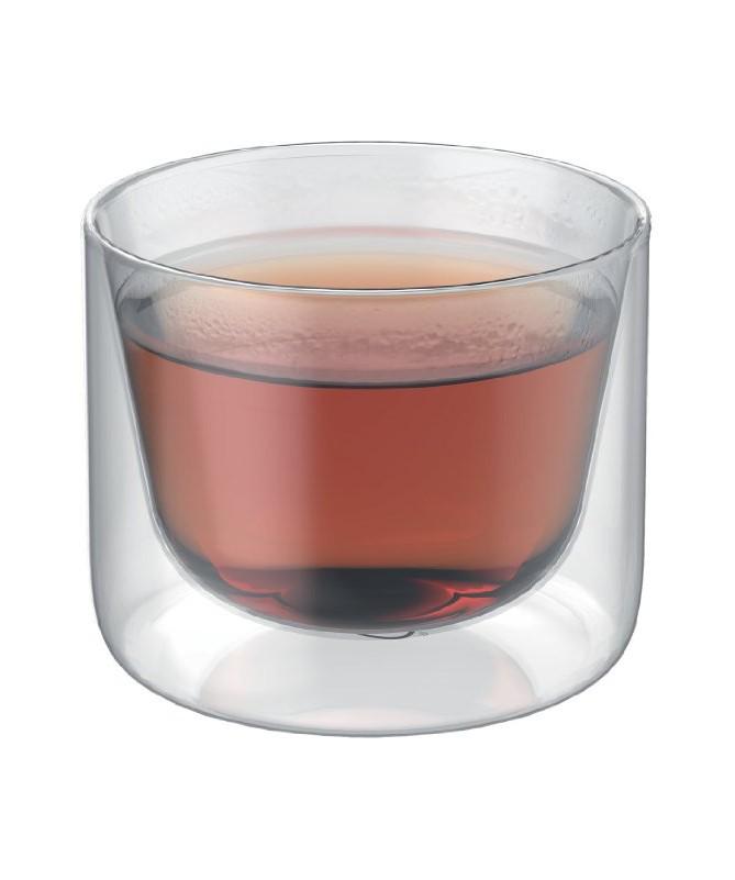 Zestaw 2cz. szklanek 200ml z podwójnymi ściankami