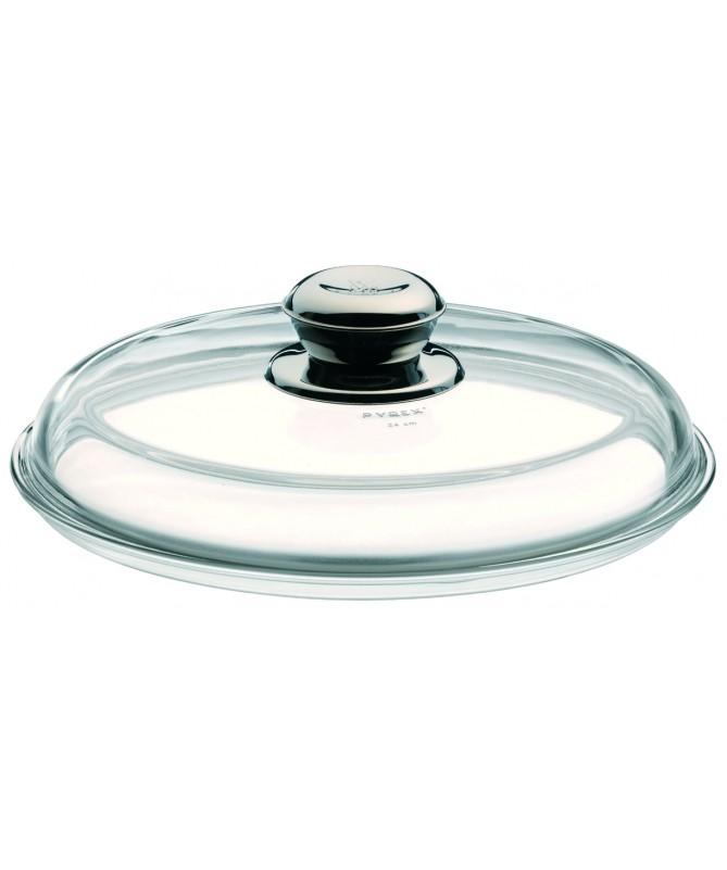 WMF - pokrywka szklana z metalowym uchwytem 24cm