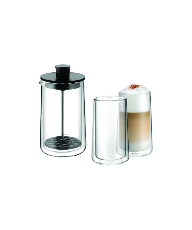 WMF - spieniacz do mleka ze szklankami