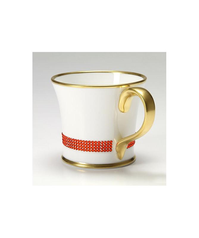 Kubek do kawy z kryształkami Swarovskiego (Hyacinth)
