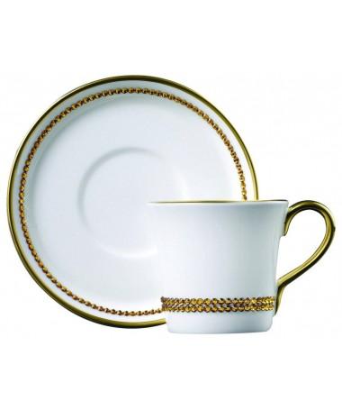 Filiżanka do espresso z kryształkami Swarovskiego (Topaz)